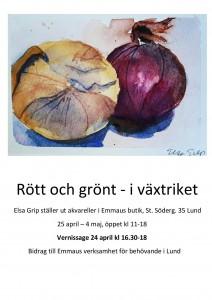 Elsa Grip - Rött och grönt - i växtriket